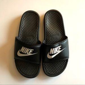Nike black slides sandals size 8